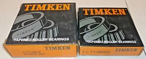 Timken Ll713049 Cup Ll713010 Cone Tapered Roller Bearing Set New Old Stock