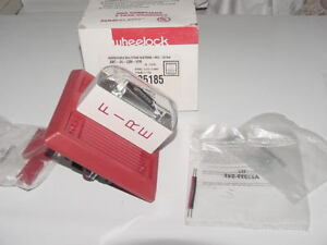 Wheelock Fire Alarm Addressable Multitone Strobe Red Amt 24 lsm vfr 125185 New