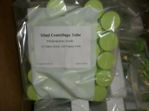 500 Centrifuge Tubes 50ml Sterile Polypropylene Flat Bottom Screw Top