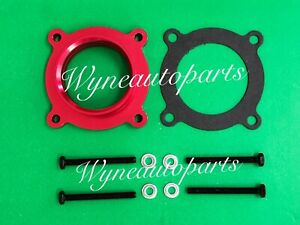 For 2007 2011 Jeep Wrangler 3 8l V6 Billet Aluminum Throttle Body Spacer Red