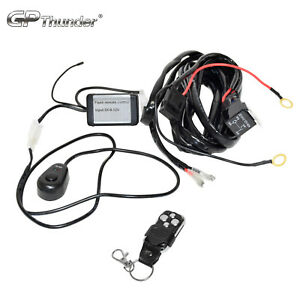 Relay Harness Wiring Cable Switch Off Road Led Lamp Bar Fob Remote Control Stobe