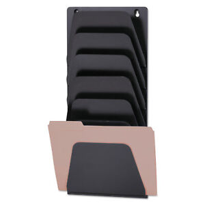Wall File Holder 7 Sections Legal letter Black