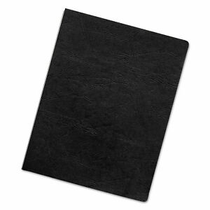 Executive Leather like Presentation Cover Square 11 X 8 1 2 Black 200 pk