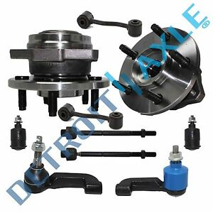 Front Wheel Bearing Hub Tie Rod Links Ball Joint For 2002 2004 Jeep Liberty