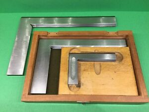 3 High Precision Steel Squares 12 In Straight Edge
