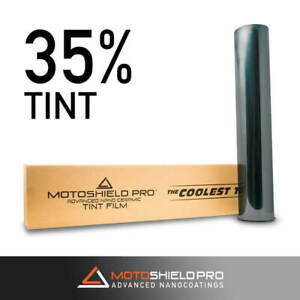 Motoshield Pro Nano Ceramic Window Tint Film 35 Shade 20 x100ft Roll 2mil Thick