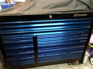 Snap On Krl1022 Black With Shiny Blue Alum Drawers work Mat Logo Cover