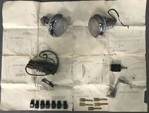 1949 1950 1951 Mercury Lincoln Nos Backup Reverse Light Lamp Kit Nos