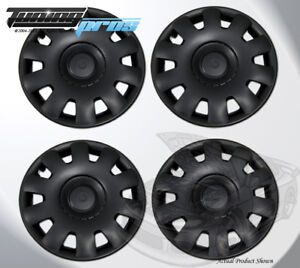 15 Inch Snap On Matte Black Hubcap Wheel Cover Rim Covers 4pc 15 Inches 032