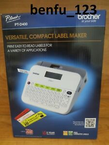 Brother P touch Pt d400 Electronic Labeling System New Label Tape Sticker Maker