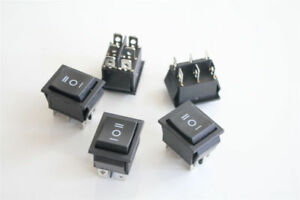 Momentary latching 3 Position Rectangle Rocker Switch 6 Pin Dpdt 12v Black