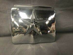 1950 1951 Ford Car Chrome Gas Fuel Filler Door Cover Star Accessory