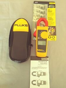 Fluke Truedigital Clamp Meter Display Ac Dc Voltage Electric Cat Cable Wire new