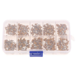 500pcs 0 1uf 10uf Monolithic Ceramic Capacitor Assortment Kit With Box