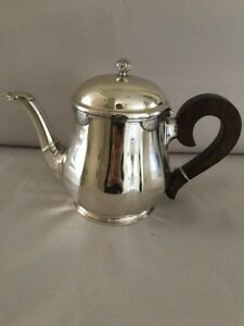 Vintage Sterling Silver 8 Coffee Or Tea Pot Teapot Seashell Accents