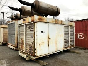 Used 500 Kw Diesel Generator Cummins Vta 1710 g Continuous Rated Enclosed Tested