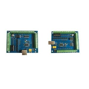 New 4 axis Mach3 Usb Cnc Motion Controll Card Interface Breakout Board 2pcs
