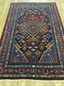 Vintage 4x6 Joshaghan Mimi Semi Antique Wool Hand Knotted Persian Oriental Rug