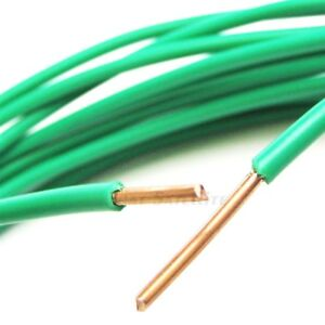 Solid Bare Copper Grounding Wire Green 10 Gauge Awg Thhn Pvc Jacket