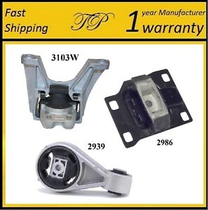 3 Pcs Front Right Motor Trans Mount For 2003 2004 Ford Focus 2 3l