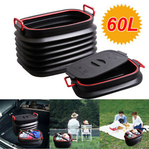 Car Trash Garbage Can Waste Bin Litter Storage Holder Magic Container Foldable