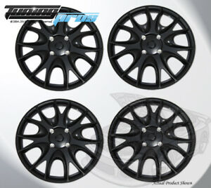 Matte Black 15 Inches 533 Pop On Hubcap Wheel Rim Skin Covers 15 Inch 4pcs