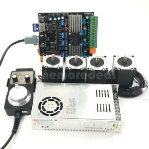 Cnc 4axis Nema23 Stepper Motors 57 mdk2 Motor Controller Board power Kit Usb Dl