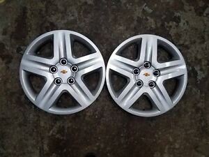 2006 07 08 09 10 11 12 Pair Of 2 Impala Monte Carlo Hubcaps Wheel Covers 3021