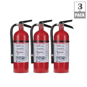 Fire Extinguisher 3 Pack Wall Mounting Bracket Office School Safety Emergency