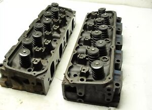Rebuilt Pair Ford 351 Cleveland 4v Open Chamber Cylinder Heads