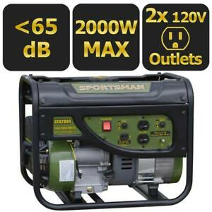 Sportsman 2000 watt Quiet Portable Gas Powered Generator Home Back Up Rv Camping