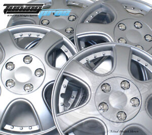 4pc Qty 4 Pop On Wheel Cover Rim Skin Cover 14 Inch B011 Hubcap Silver