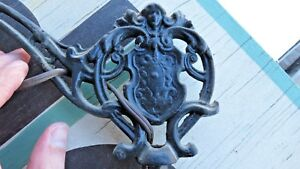 Ornate Working Antique Vintage Cast Iron Art Deco Bridge Arm Floor Lamp