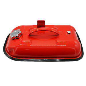Red 5l Portable Gas Fuel Tank Can With Oil Tube For Atv Car Motorcycle
