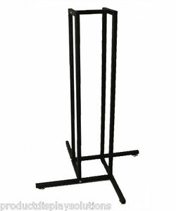 4 Way Clothing Garment Display Rack Base Fits 1 Square Inserts Black
