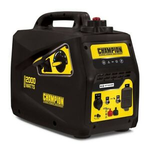 Champion 2 000 watt Super Quiet Portable Gas Powered Inverter Generator Home Rv