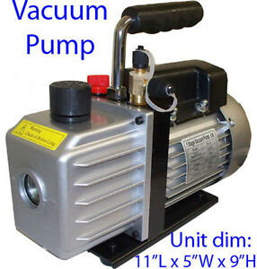 Electric Rotary Vane Vacuum Pump Single Stage 2 5cfm