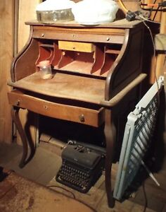 Antique Roll Top Desk Early 1900 S