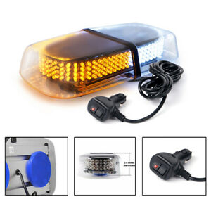 12 Led Dash Strobe Light Flash Emergency Police Warning Safety Lamp Amber White
