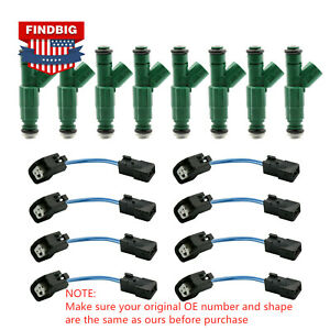 8x Upgrade 4 Hole Fuel Injectors For 96 99 Dodge Ram Dakota 5 2l 5 9l 318 360
