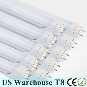 10pcs 4ft T8 20watt Led Tube Light Bulb Fluorescent Replacement 6000k Milky Lens