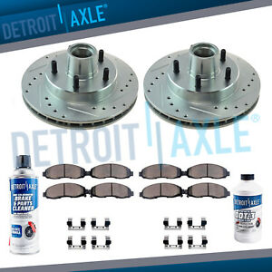 Front Drilled Brake Rotors Ceramic Pads Chevy S10 Blazer Monte Carlo S10 Llv