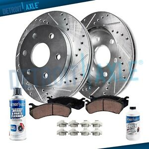 2007 2015 2016 Enclave Traverse Acadia Front Drill Brake Rotors Ceramic Pads