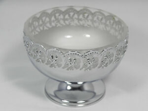 English Silverplate Sweetmeat Candy Dish Froste Glass Liner Celtic Quality Plate
