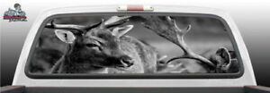 Deer Hunting Hunter Vinyl Perforated Rear Window Graphic Decal Suv Truck Car