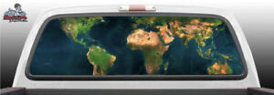World Satellite Earth Ocean Perforated Rear Window Graphic Decal Suv Car Truck