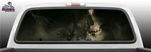 Skull Smoke Smoking Head Perforated Rear Window Graphic Decal Suv Truck Car Perf