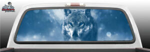 Wolf Staring Eyes Staring Art Perforated Rear Window Graphic Decal Suv Car Truck