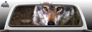 Wolf Eyes Nature Staring Perforated Rear Window Graphic Decal Suv Car Truck