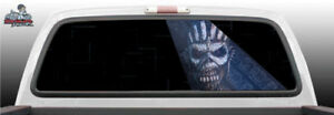 Iron Maiden Plane Skull Abstract Perf Rear Window Graphic Decal Suv Truck Car